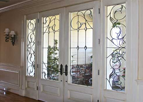 Traditional Beveled Leaded Glass Work From Stained Glass Woodland Hills and Silva Glassworks
